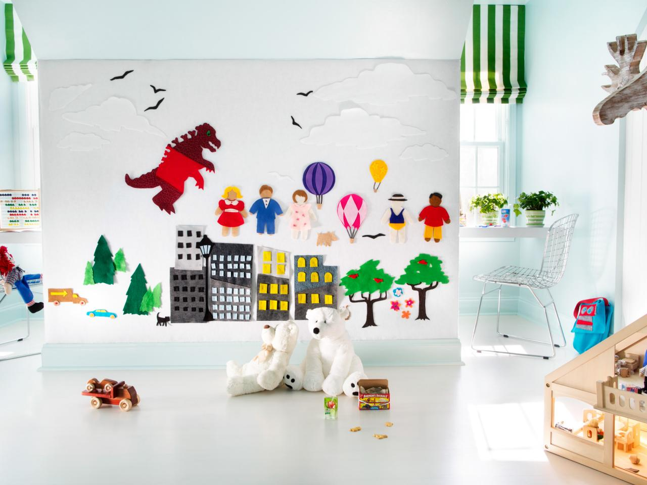 Minimalist Playroom Wall Decor