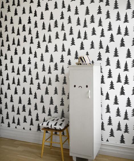 motyw czarnej choinki design dla dzieci hohonie bloguj. Black Bedroom Furniture Sets. Home Design Ideas