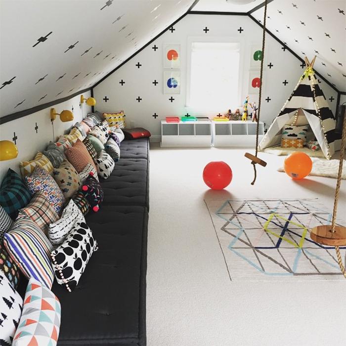 pok j zabaw na poddaszu pomys y i inspiracje hohonie. Black Bedroom Furniture Sets. Home Design Ideas