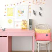 yellow-pink-bedroom-kids